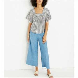 Madewell | Chambray Huston Pull-On Crop Pants